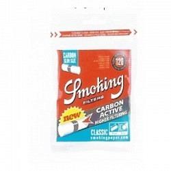 Smoking Slim Classic Filter Carbon Active(120) --1 Original GPK mit 10 Stck.