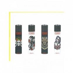Feuerzeuge Clipper Classic Micro Tattoes - 1 Original GPK mit 48 lighters
