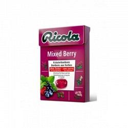 RICOLA Mixed Berry 50 gr. BOX ohne Zucker - 1 Original GPK mit 20 Stck.