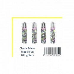 Clipper Feuerzeug Classic Large Hippie Fun-1 Original GPK mit 48 lighters