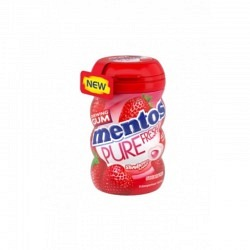 Mento Gum Pure Fresh Pure Fresh  Strawberry in 90 gr. Bottle - 1 Original GPK mit 6 Stck.