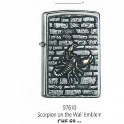 Zippo Scorpion on the Wall Emblem