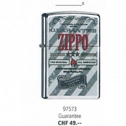 ZIPPO Guarantee Original Zippo Aktion mit Gratis Zippo Benzin
