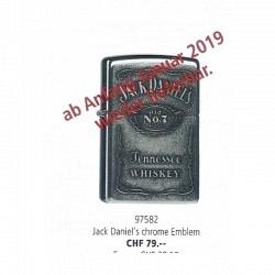 ZIPPO Jack Daniel's chrome Emblem