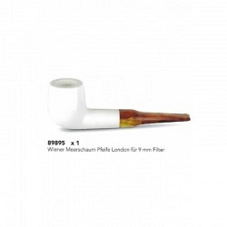Wiener Meerschaum Pfeife London für 9 mm Filter