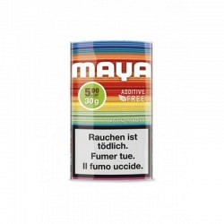 MAYA RYO Zigaretten Tabak ADDITIV FREE in Beutel - 1 Original GPK  mit 5 Beutel 30 gr.