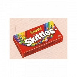 Skittles Box Fruits 45 gr. - 1 Original GPK mit 16 Stck.