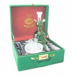 Wasserpfeife Al Fahker Sisha grün in Koffer
