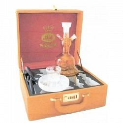 Wasserpfeife Al Fahker Sisha orange in Koffer