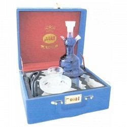 Wasserpfeife Al Fahker Sisha blau in Koffer