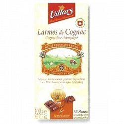 Villars Schokoladetafel 100 gr. - Larmes de Cognac- 1 Original GPK mit 10 Stck.
