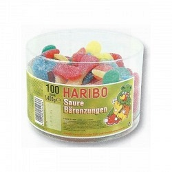 Fruchtgummi SAURE BÄRENZUNGEN    von Haribo  - 1 Original Box mit 100 Stck.