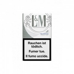 L&M  Fine Cut Silver Blue Box- 1 Original Stange mit 10 Päckli