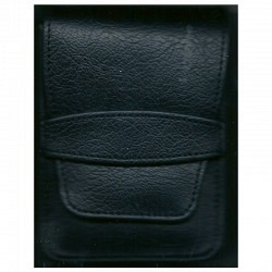 Zigaretten Etui aus Leder/Kunststoff  schwarz
