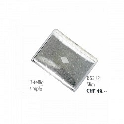 Zigaretten Etui Metall -1 teilig Slim