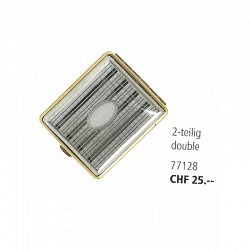Zigaretten Etui aus Metall -2 teilig