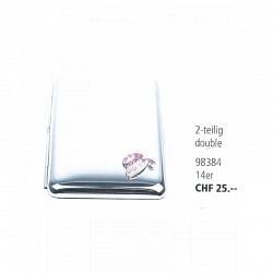Zigaretten Etui aus Metall 2-teilig/double 14er mit farbigen Sujet