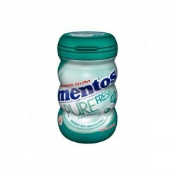 Mento Gum Pure Fresh Spearmint in 90 gr. Bottle - 1 Original GPK mit 6 Stck.